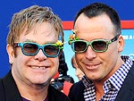 Elton John and David Furnish Celebrate in 3-D
