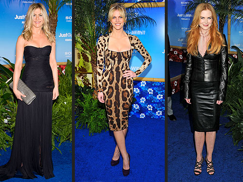 Jennifer Aniston, Brooklyn Decker and Nicole Kidman Sexy Go With It Premiere Looks