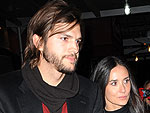 Demi Moore and Ashton Kutcher Catch a Movie