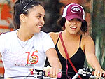 Off-Duty Hollywood: Vanessa Hudgens Takes Her Little Sister Biking