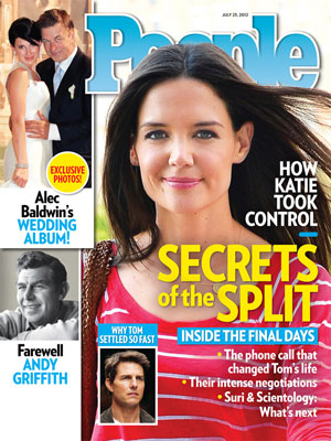 photo | Katie Holmes Cover, Nasty Breakups and Divorces, Alec Baldwin, Andy Griffith, Hilaria Thomas, Katie Holmes, Tom Cruise