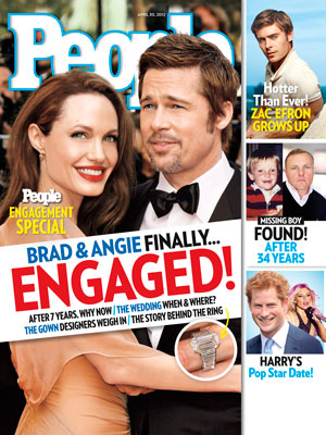  photo | Engagements, Angelina Jolie Cover, Brad Pitt Cover, Angelina Jolie, Brad Pitt, Prince Harry