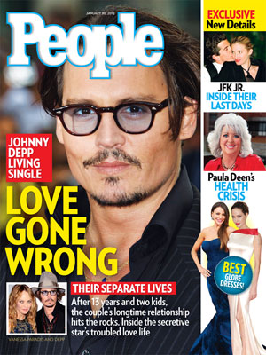 photo | Breakups, Johnny Depp Cover, Angelina Jolie, Carolyn Bessette, Carolyn Bessette Kennedy, John F. Kennedy Jr., Johnny Depp, Paula Deen, Sofia Vergara