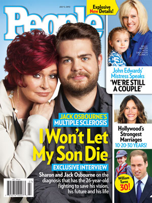 photo | Battling Illnesses, Sharon Osbourne Cover, Jack Osbourne, Julia Roberts, Prince William, Rielle Hunter, Sharon Osbourne