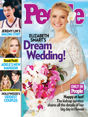 photo | Secret Weddings, Elizabeth Smart Cover, Adele, Elizabeth Smart, Heather Locklear, Jeremy Lin, Tom Cruise