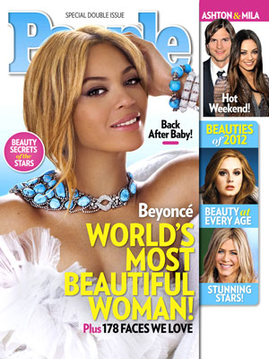  photo | Most Beautiful on Covers, Most Beautiful, Adele, Ashton Kutcher, Beyonce Knowles, Jennifer Aniston, Mila Kunis