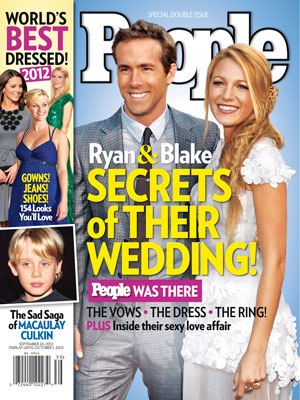 photo | Secret Weddings, Weddings, Best & Worst Dressed on Covers, Blake Lively Cover, Ryan Reynolds Cover, Best Worst Dressed, Celebrity Weddings, Blake Lively, Macaulay Culkin, Ryan Reynolds