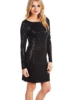 74e903407ff71 1 Trend, 3 Ways: Black Sequin Maternity Dresses | PEOPLE.com