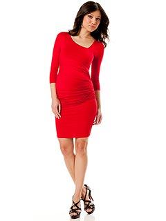 1 Trend, 3 Ways: Red Maternity Mini Dresses – Moms & Babies ...