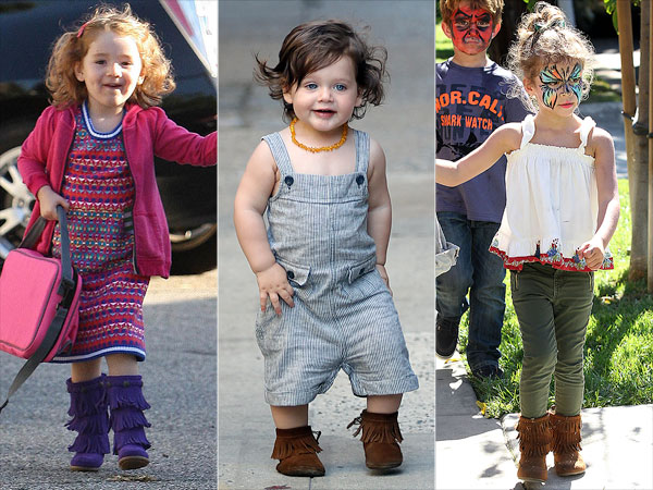 1 Trend, 3 Ways: Mini Fringed Boots – Moms & Babies – Celebrity ...