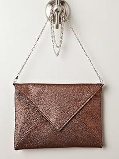 Sasha Glitter Envelope Clutch 
