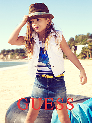Dannielynn Birkhead Models for GUESS Campaign