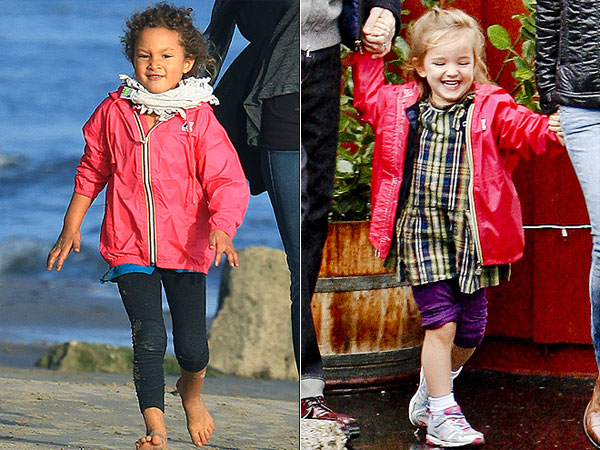 Twice As Nice: Nahla Aubry & Seraphina Affleck's Colorful Windbreaker
