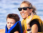 PHOTO: Sheryl Crow and Son Splash Down