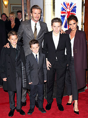 David and Victoria Beckham's Burberry Boys
