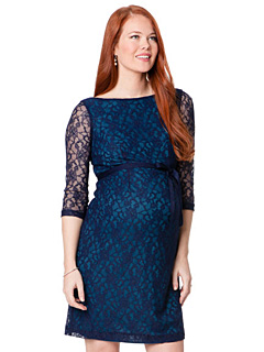 Navy Embellished Maternity Dresses