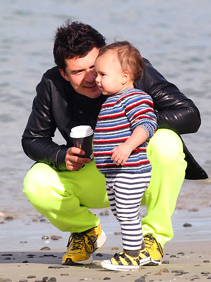 ORLANDO BLOOM & FLYNN photo | Orlando Bloom