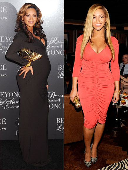 Beyonce Before and After Pregnancy