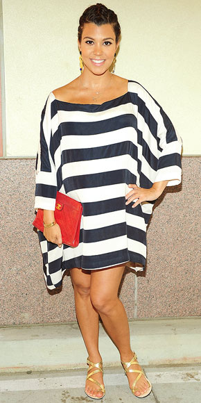 STRIPED OUT photo | Kourtney Kardashian
