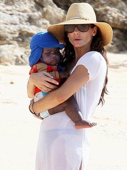 BEACH BABY photo   Sandra Bullock