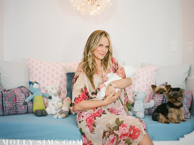 Molly Sims's Modern & Serene Nursery