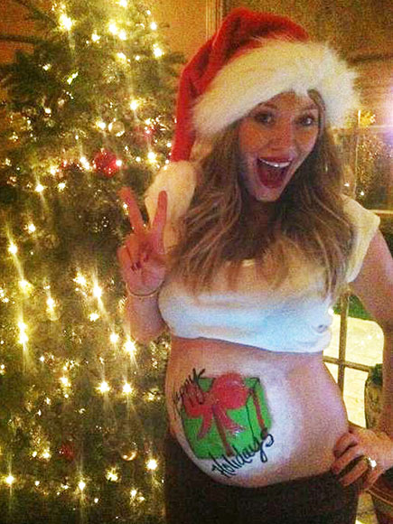 Color Me Pregnant: Star Moms & Their Painted Baby Bumps