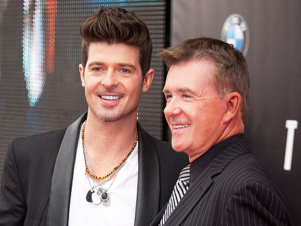 Robin Thicke Parties with Dad Alan