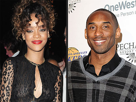 Rihanna Takes Over Kobe Bryant's Table at Basketball Bash | Kobe Bryant, Rihanna