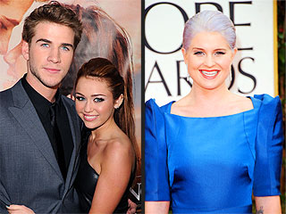 Miley Cyrus, Liam Hemsworth Kick Back with Kelly Osbourne | Kelly Osbourne, Liam Hemsworth, Miley Cyrus
