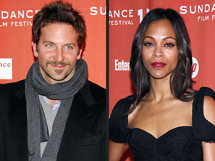 Bradley Cooper & Zoe Saldana Share Kisses at Sundance