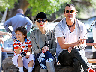 Gwen & Gavin Snuggle as Their Sons Hit the Playground | Gwen Stefani
