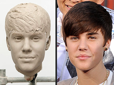 Wax On! Justin Bieber Gets an Early Look at His Madame Tussauds Figure | Justin Bieber