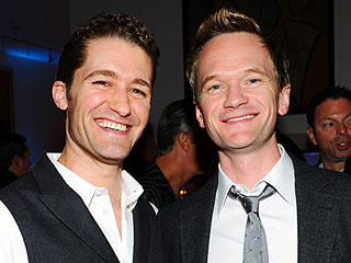 Neil Patrick Harris, Matthew Morrison Take in the Indy Skyline | Matthew Morrison, Neil Patrick Harris