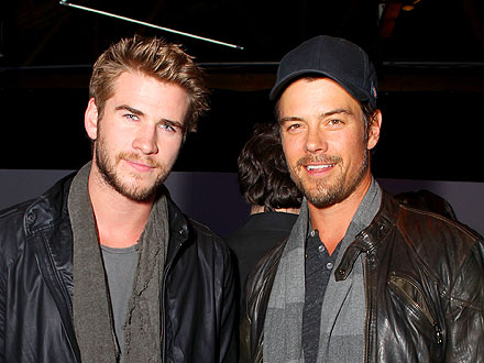 Josh Duhamel & Liam Hemsworth Pal Around at an L.A. Party | Josh Duhamel, Liam Hemsworth