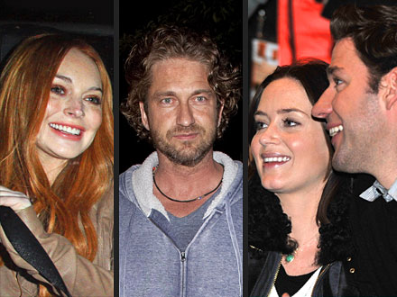 Lindsay Lohan Giggles with Gerard Butler at Chateau Marmont