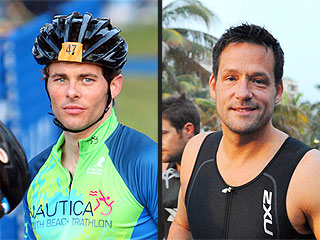 James Marsden & Josh Hopkins Compete in a Triathlon