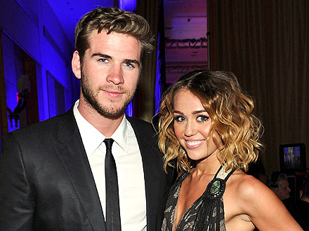Miley Cyrus & Liam Hemsworth's Color-Coordinated Date Night | Liam Hemsworth, Miley Cyrus