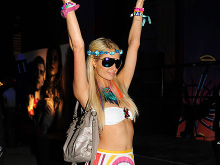 Paris Hilton Whips Her Hair at Coachella Bash | Paris Hilton
