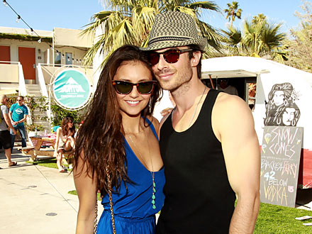 Ian Somerhalder and Nina Dobrev Master the Art of Sneaky PDA in Bel Air | Ian Somerhalder, Nina Dobrev
