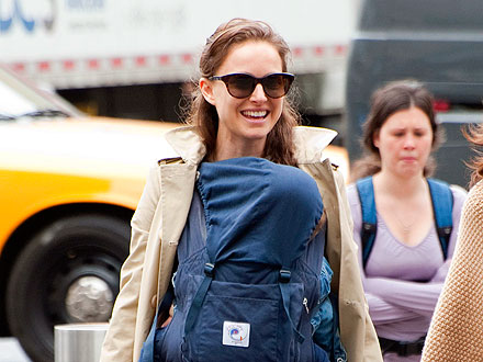 Natalie Portman Goes Lunching with Baby Aleph in N.Y.C.