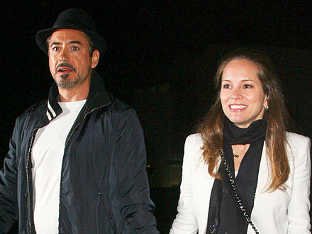 Robert Downey Jr. & Wife Susan Take in a Coldplay Concert | Robert Downey Jr.