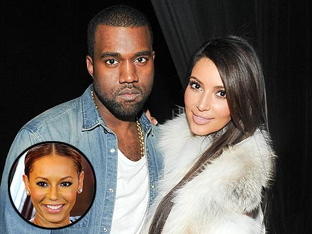 Kim Kardashian & Kanye West Meet a Spice Girl in Paris