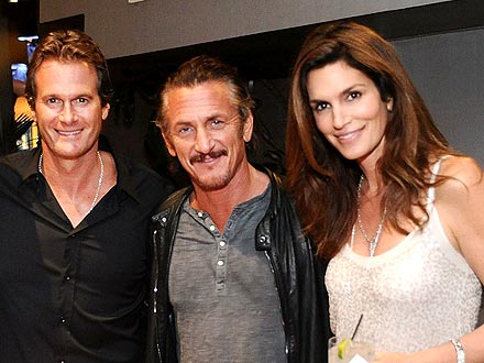 Sean Penn Parties with Cindy Crawford & Friends Way Past Midnight | Cindy Crawford, Randy Gerber, Sean Penn