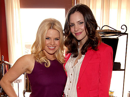 Katharine McPhee & Megan Hilty's Celebratory Champagne-Filled Dinner Party