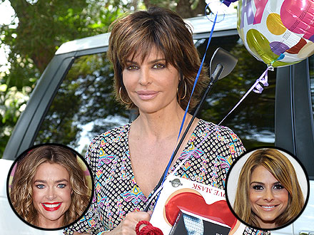 Lisa Rinna Parties with Celebrity Pals (and a Drool-Worthy Menu) for Her Birthday | Denise Richards, Lisa Rinna, Maria Menounos