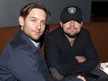 Tobey Maguire Skips the Meat During Steakhouse Dinner with Leo DiCaprio | Leonardo DiCaprio, Tobey Maguire