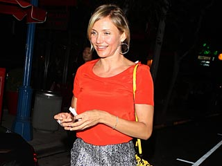 Cameron Diaz Gets Down to Business Over Dinner | Cameron Diaz