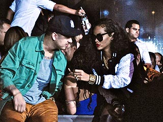 Rihanna Sulks as Chris Brown Parties with Christina Milian in L.A. | Rihanna, Rob Kardashian