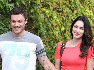 Megan Fox & Brian Austin Green Enjoy Mexican Food in L.A. | Brian Austin Green, Megan Fox