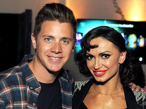 Jef Holm Challenges DWTS Star Karina Smirnoff to a Dance Off in Hollywood